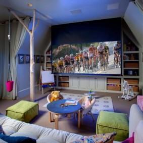 Уютная детская комната в пастельных тонах