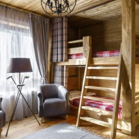 Деревянная мебель в современной детской