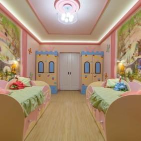Сказочный интерьер комнаты для двоих детей