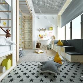 Дизайн детской комнаты в городской квартире
