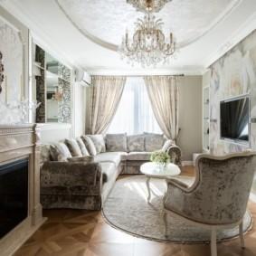 Классический дизайн небольшой комнаты