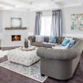 Удобное изголовье углового дивана