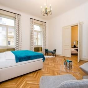 Спальное помещение в четырехкомнатной квартире