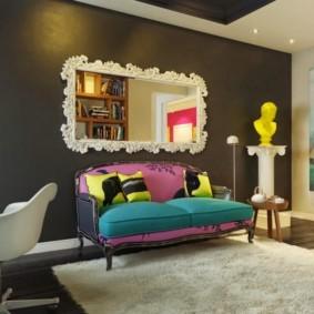 Интерьер гостиной в стиле поп арт