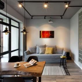 Небольшая гостиная в современном стиле