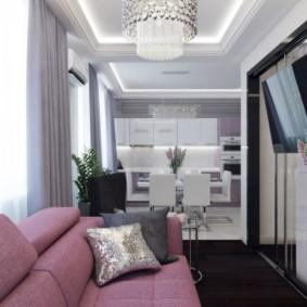 Текстильная обивка дивана в гостиной