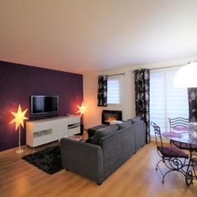 Освещение комнаты в квартире студии