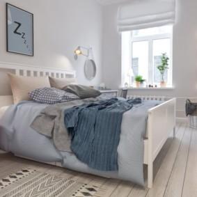 Дизайн спальной комнаты в светлых тонах
