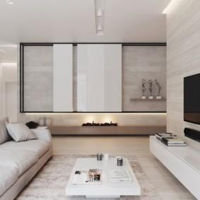 Минимализм в интерьере трехкомнатной квартиры