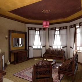 Деревянная мебель с ручной резьбой