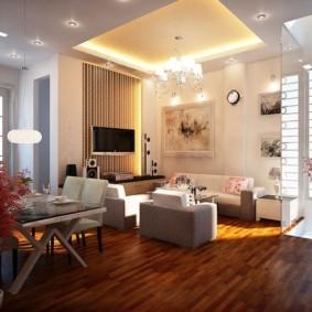 Освещение гостиной площадью 25 квадратов