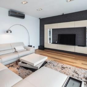П-образный диван в современной гостиной