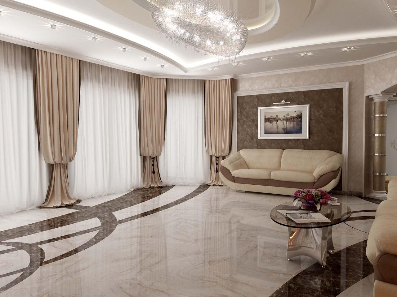 шторы для гостиной в стиле неоклассика фото