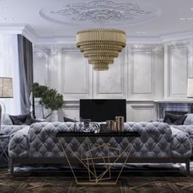 Мягкая мебель с красивой обивкой