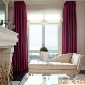 Прямые шторы из плотной ткани