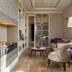 Компактная гостиная в панельном доме