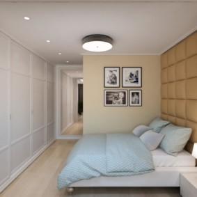 Небольшая спальня в двухкомнатной квартире