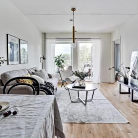 Скандинавский интерьер в квартире панельного дома