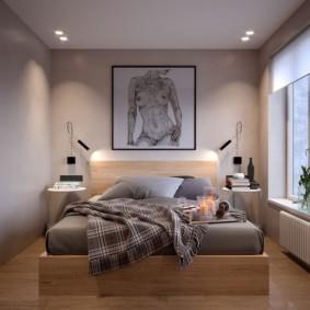 Небольшая спальня в духе минимализма