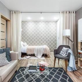 Освещение спальной зоны в общей комнате