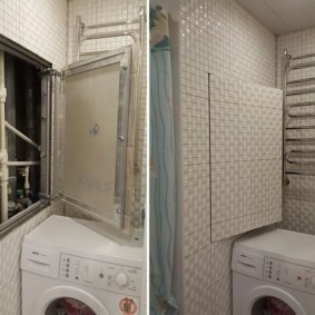 Скрытый люк над стиральной машиной