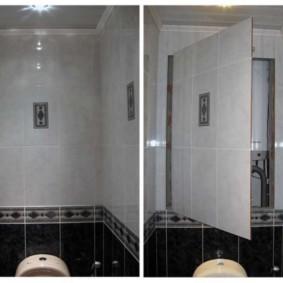 Ревизионный люк за унитазом в туалете