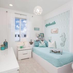 Голубой цвет в интерьере детской комнаты