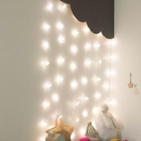 Гирлянда из звездочек для ночной подсветки детской комнаты