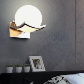 Настенный светильник в форме шара