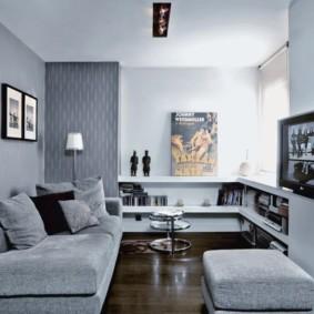Компактная зона отдыха в маленькой квартире