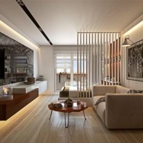 Зонирование общей комнаты в маленькой квартире