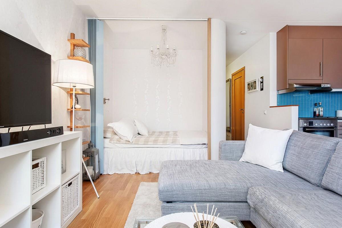 фотографии дизайна однокомнатных квартир с нишей ряде