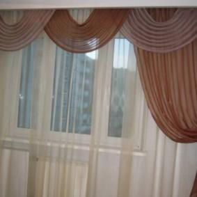 Классические шторы с мягким ламбрекеном