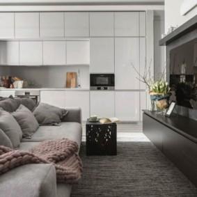 Стильная мебель с фасадами без ручек