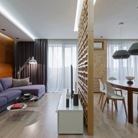 Легкая перегородка в однокомнатной квартире