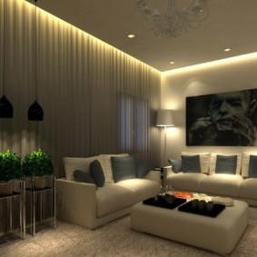 Местная подсветка зоны отдыха в зале