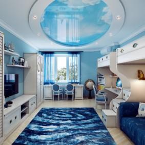 Реалистичное небо на потолке в гостиной