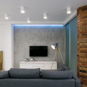 Накладные светильники на поверхности потолка