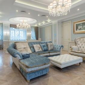 Оформление зала в классическом стиле