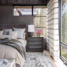 Серые оттенки в интерьере спальни