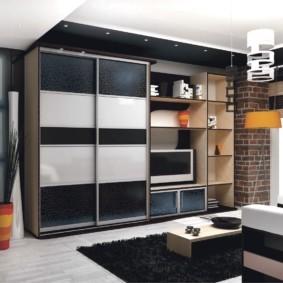 Мебельный гарнитур для зала частного дома