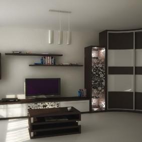 Светлый пол в гостиной квартиры