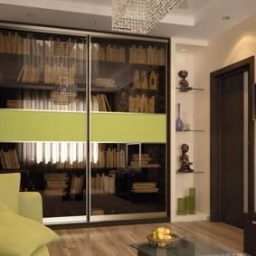 Интерьер зала в квартире молодой семьи