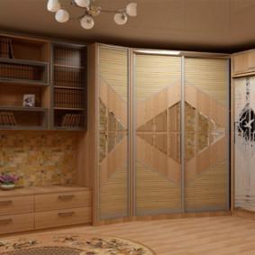 Мебель до потолка в интерьере зала