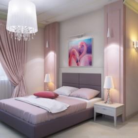 Декор картиной стены над изголовьем кровати