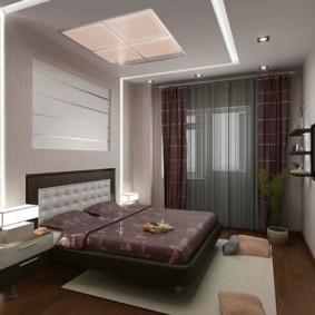 Коричневые шторы с полосками светлого оттенка