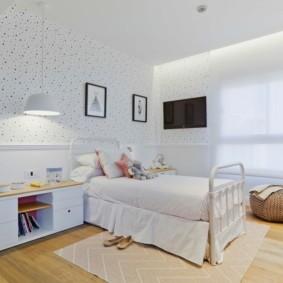 Белый цвет в интерьере спальной комнаты