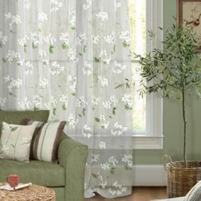 Зеленая обивка мягкой мебели