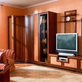 Мебель для зала с комбинированными фасадами