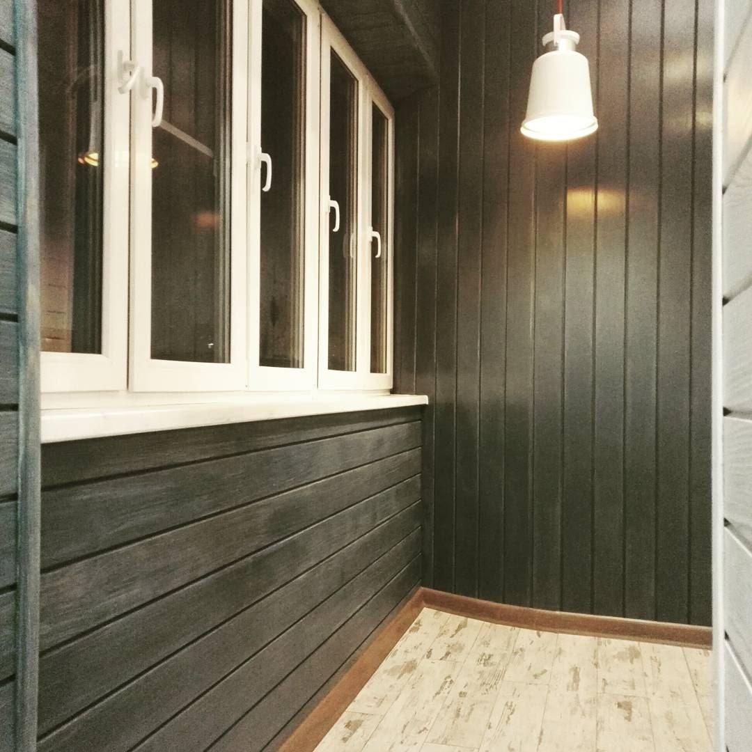Фото современной отделки стен и пола балкона
